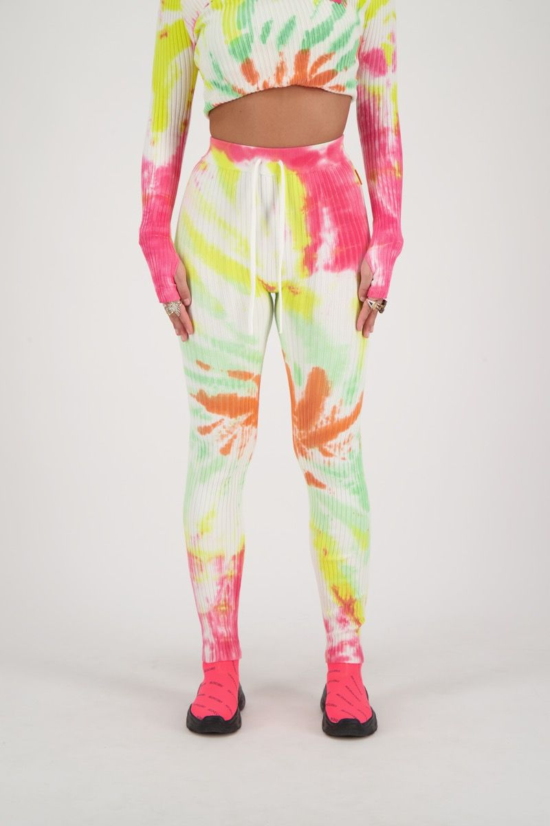 TWIN SET PANTS TIE DYE