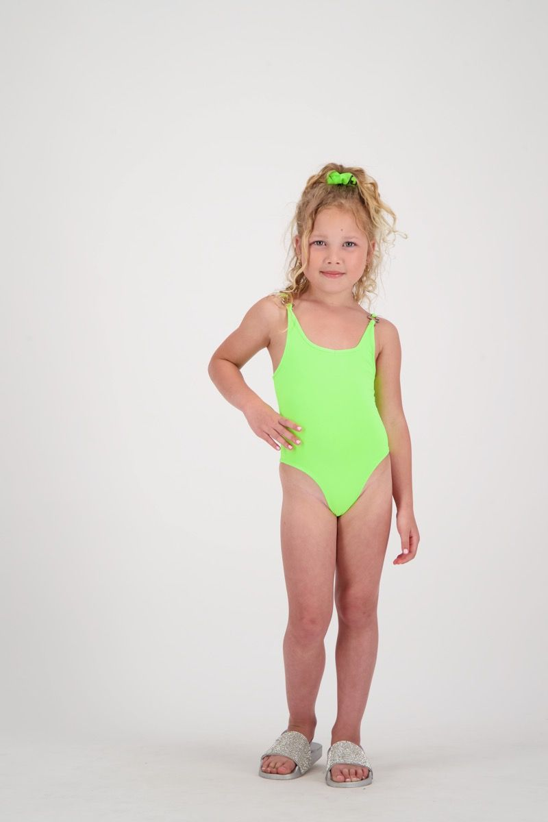 SWIM SUIT HEADLOGOS SOLID COLOR