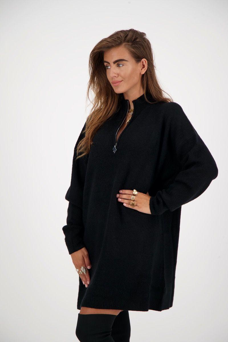 ZIPPER DRESS WOOL