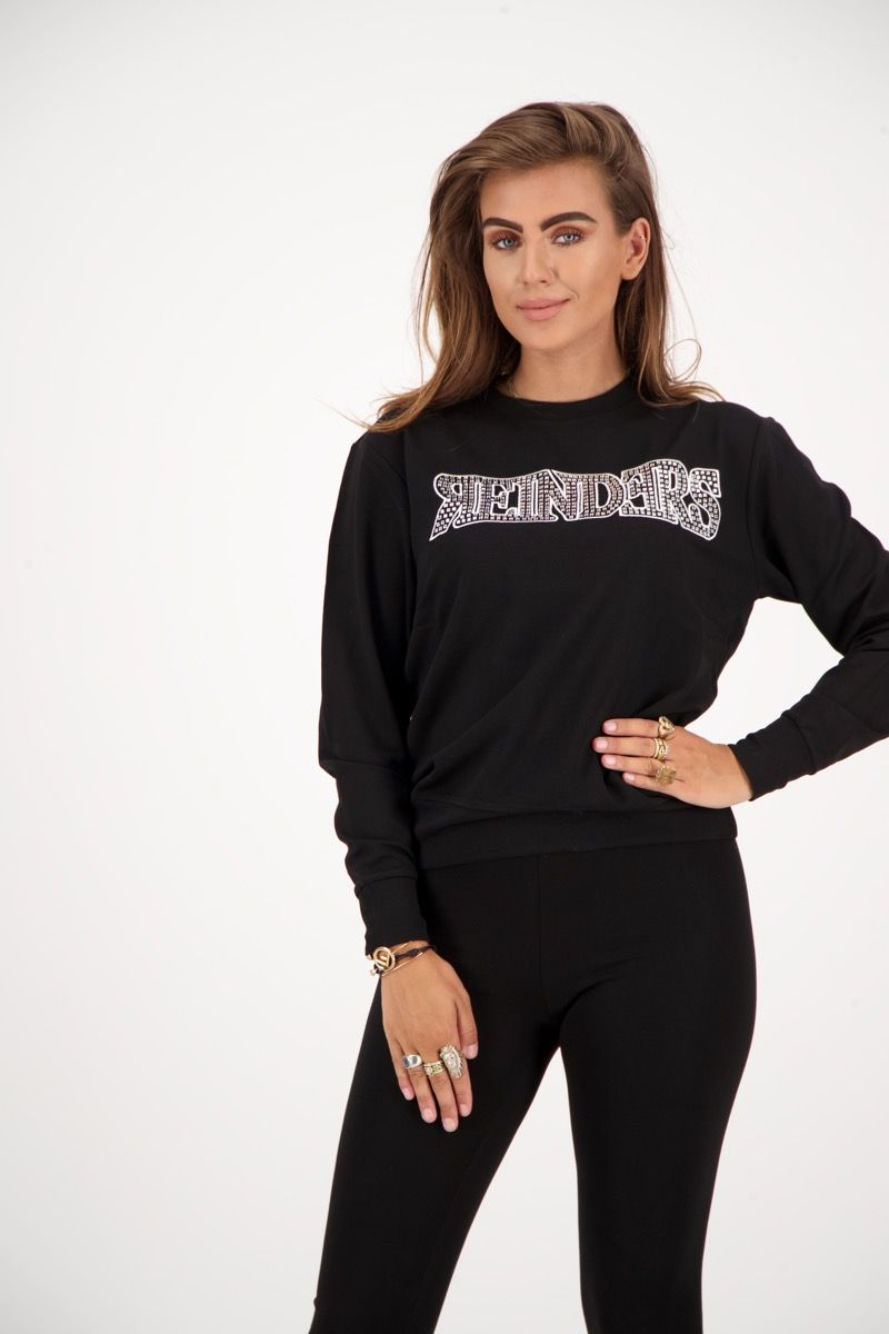 REINDERS SWEATER WORDING DIAMONDS