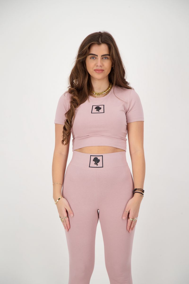HEADLOGO SQUARE T-SHIRT CROP TOP