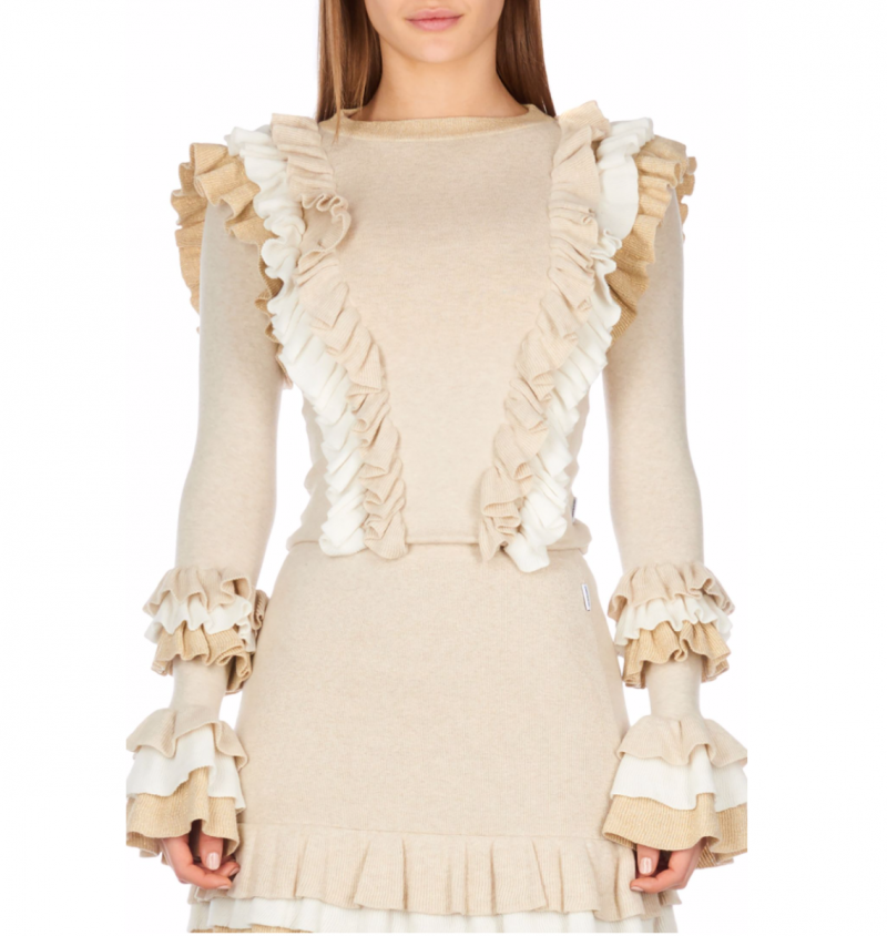 VALERIE RUFFLE TOP LUREX